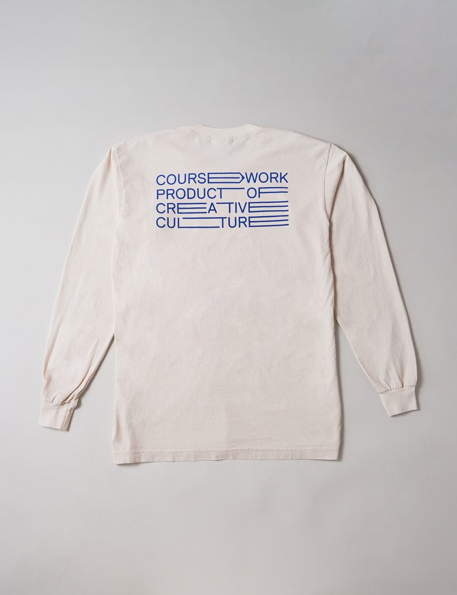 Full Width Text Long Sleeve - Natural