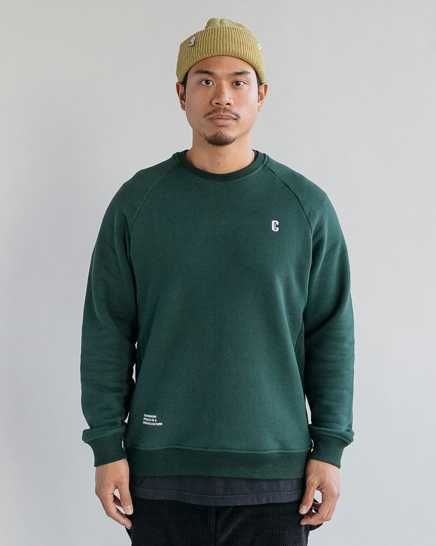 Icon Crewneck Sweatshirt - Forest Green