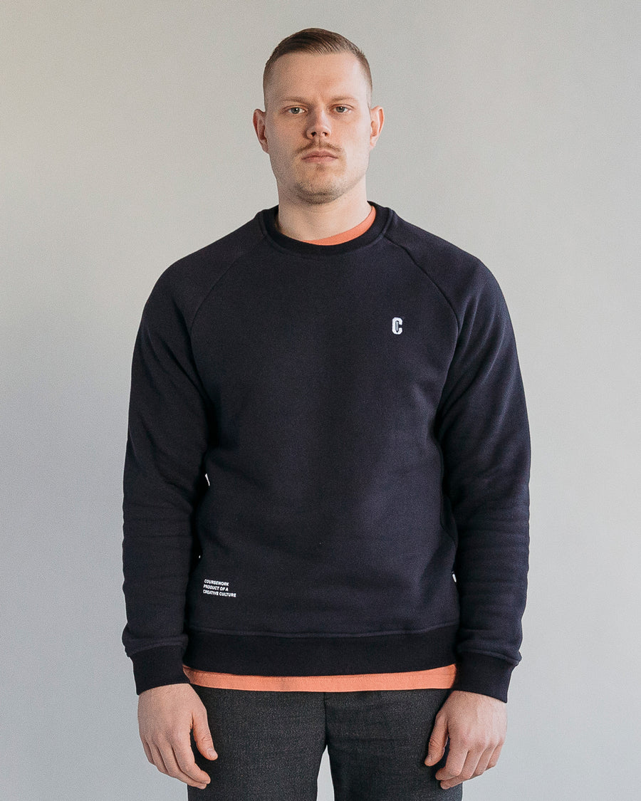 Icon Crewneck Sweatshirt - Navy