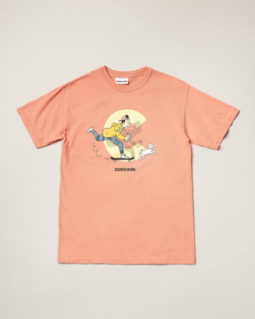 Kick Push Tee - Terracotta