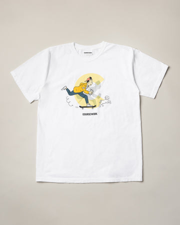 Kick Push Tee - White