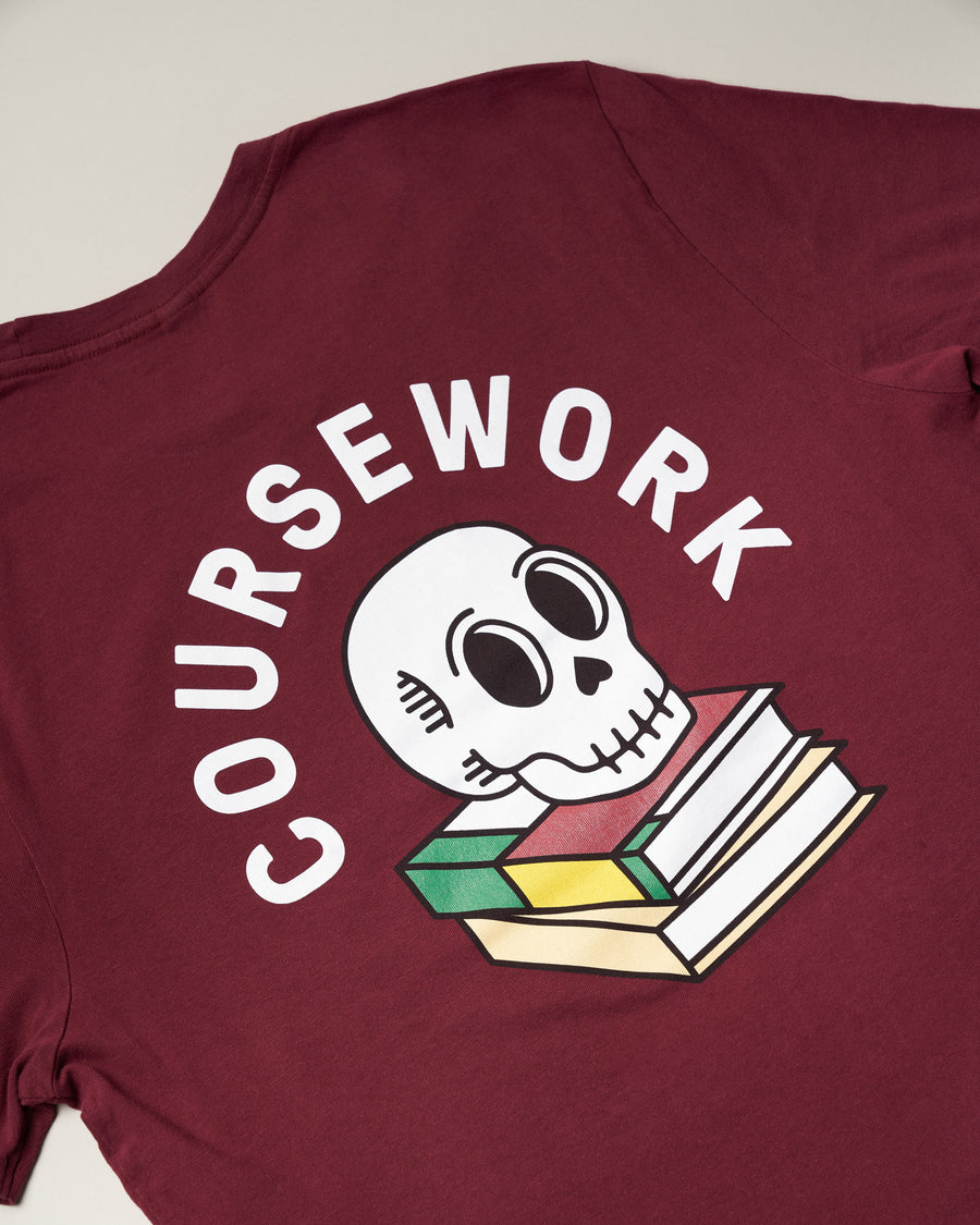 Required Reading Tee - Maroon
