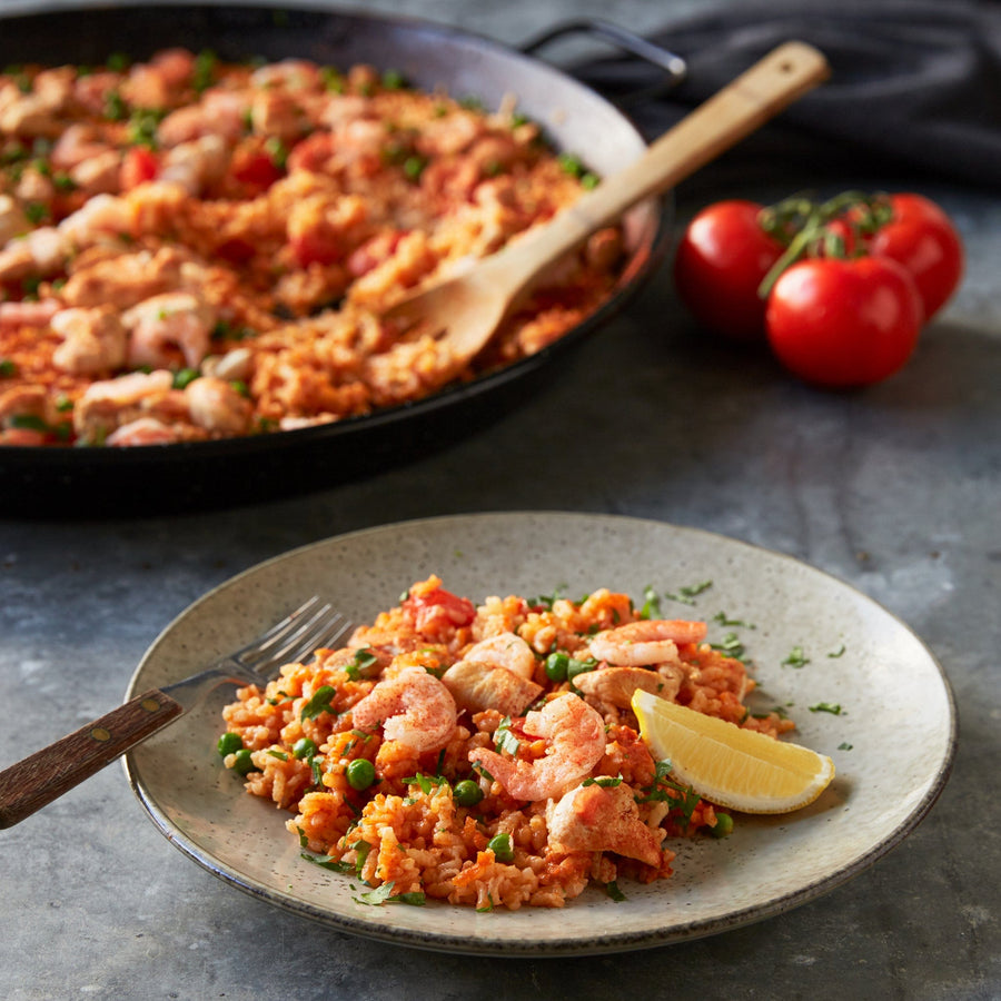 Chicken and Prawn Paella - Macrobite