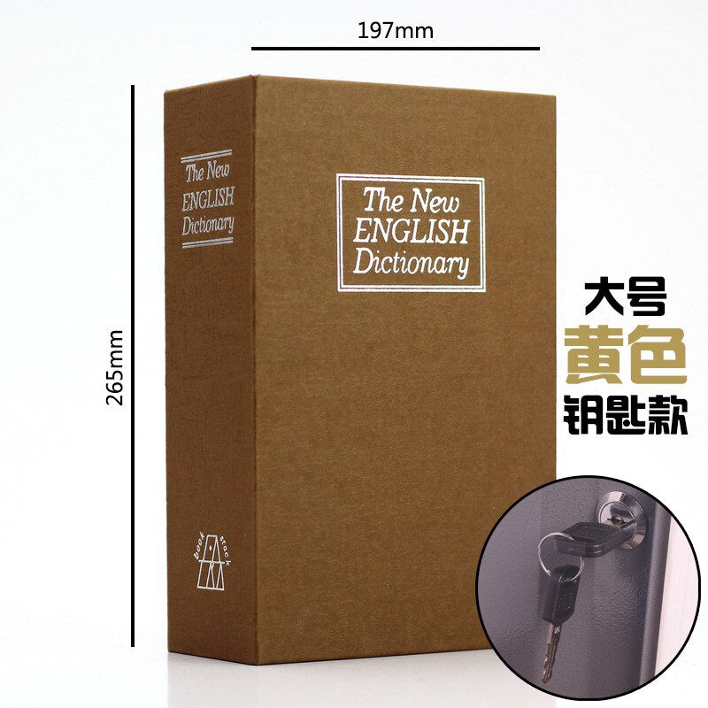 Dictionary Book Safe Security Key Lock Money Hidden Secret Safe Key Safe Box Stash Cash Money Coin Storage Jewellery key Locker