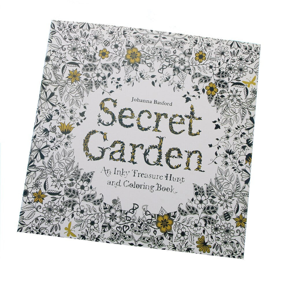 24 Pages Secret Garden English Edition Coloring Book For Children Adult Relieve Stress Kill Time Painting Drawing Book