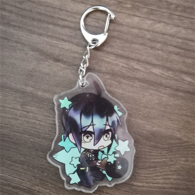 Anime Dangan Ronpa Danganronpa V3 Key Chains Two-sided Keychain Cosplay Acrylic Pendant Keyring
