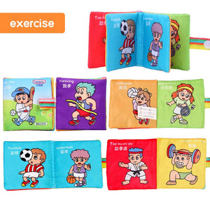 Beiens Baby First Book Kids Soft Cloth books 6 Style Infant Exercise Learning Resources Kids First Montessori Book