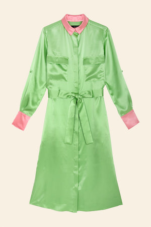 Anna silk dress - Mint bonbon - AEIBE