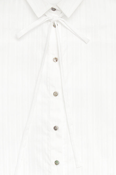 Summer breeze blouse with neck ribbon - Off white - AEIBE