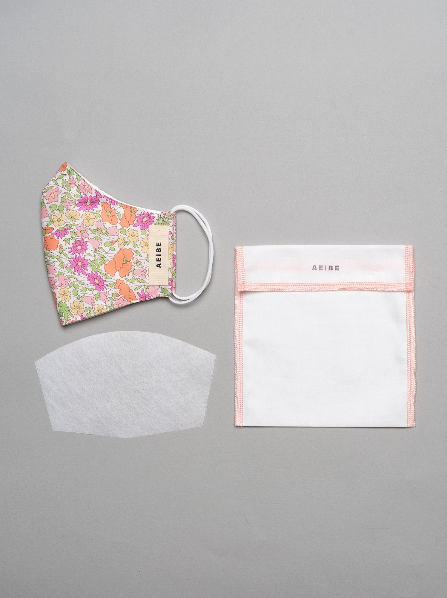 3Ply filtered face mask, Summer Bouquet - AEIBE