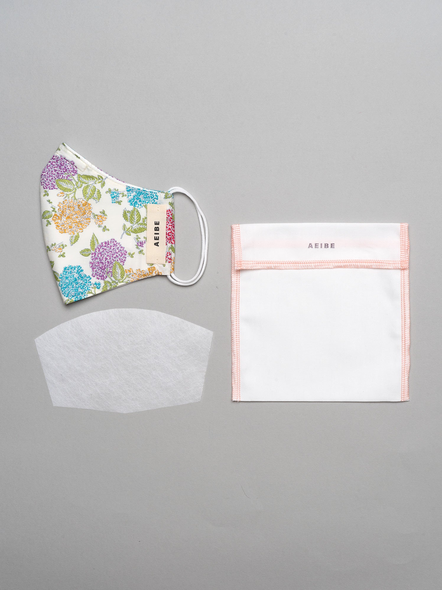 3Ply filtered face mask, Victorian Garden - AEIBE