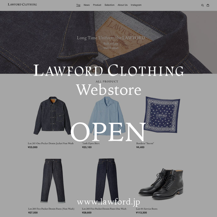 LAWFORD CLOTHING Webstore Open