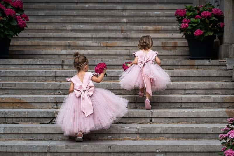 12 A-Line Flower Girl Dresses with Bows Perfect for Spring Wedding