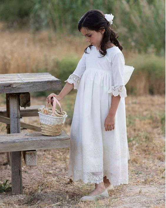 maxi flower girl dress