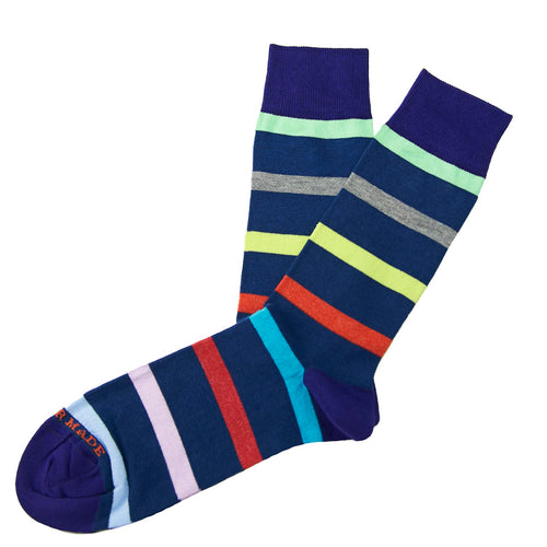 Blue/multi stripe sock Swatch