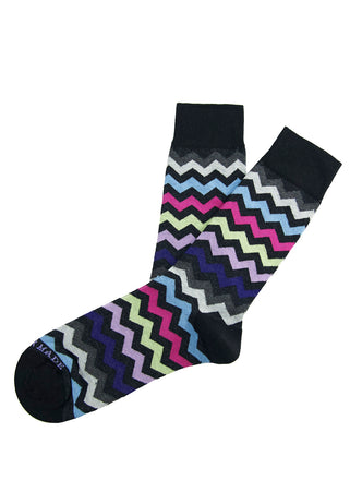 Black/multi chevron sock