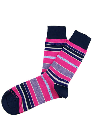 Pink/purple dotted stripe sock
