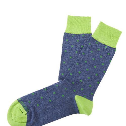 Navy/green small dot sock Swatch