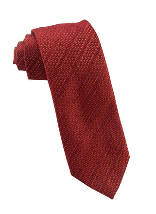 Orange solid dot tie - 1191340