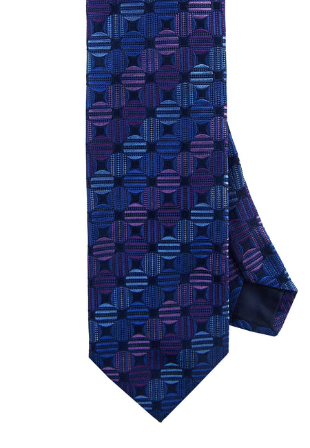 Purple dot tie - 4481