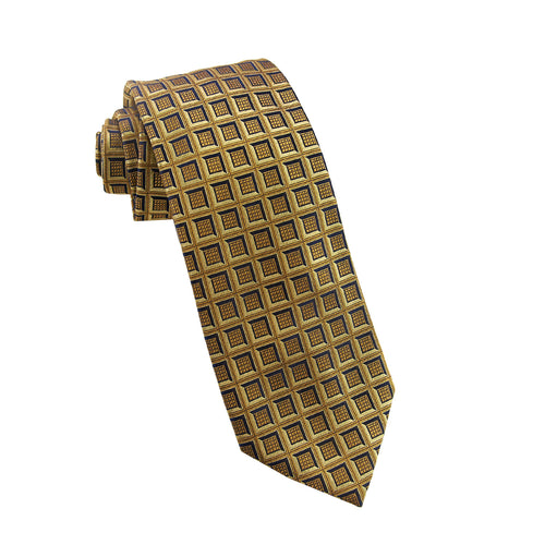 Yellow geometric tie - 4279 Swatch