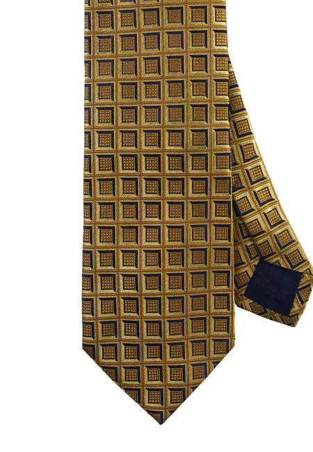 Yellow geometric tie - 4279