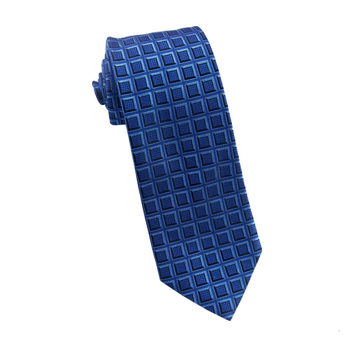 Blue geometric tie - 4279 Swatch