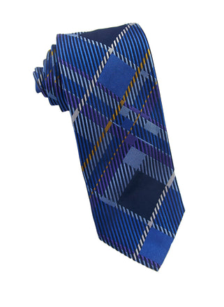 Blue/purple plaid tie - 4561
