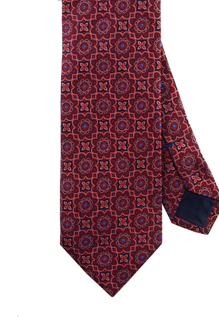 Red medallion tie - 4596