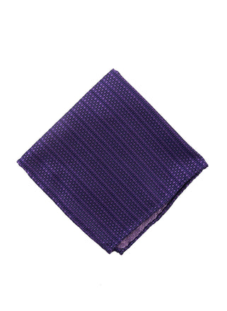Purple solid dot pocket square - 1191340