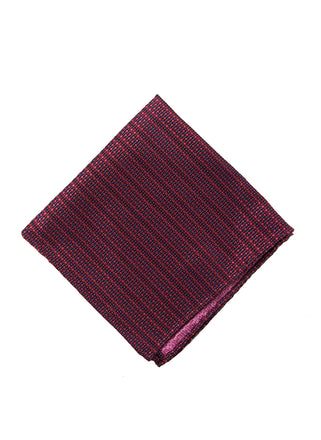 Pink solid dot pocket square - 1191340