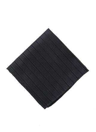 Black solid dot pocket square - 1191340