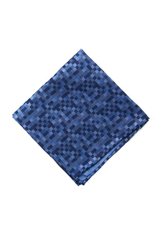 Lt blue tonal square pocket square - 4249