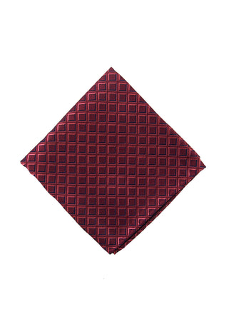 Red geometric pocket square - 4279