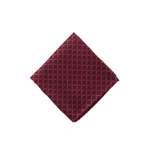Red geometric pocket square - 4279 Swatch