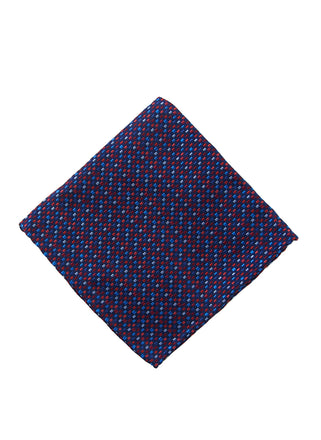 Red neat pocket square - 4554