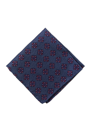 Burgundy medallion pocket square - 4636