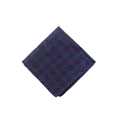 Burgundy medallion pocket square - 4636 Swatch