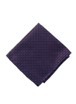 Burgundy neat pocket square - 4476