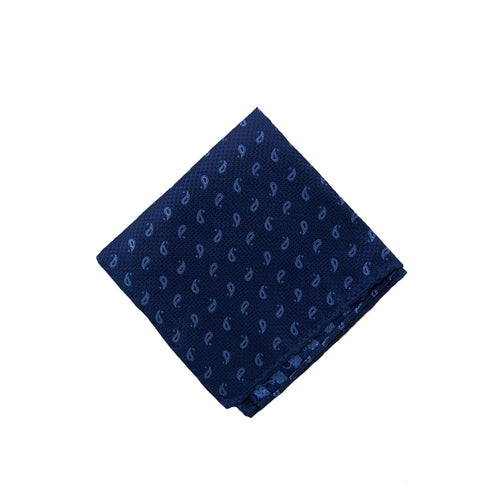 Blue paisley pocket square - 4601 Swatch