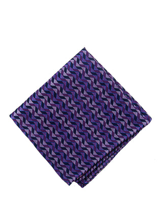Pink zig pocket square - 4556