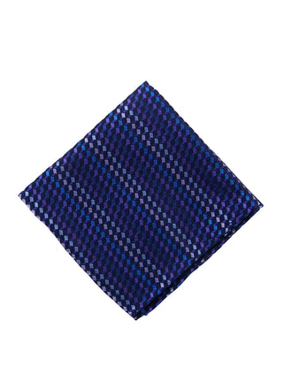 Purple neat pocket square - 4555