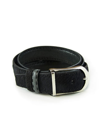 Black/Grey Horsehair belt