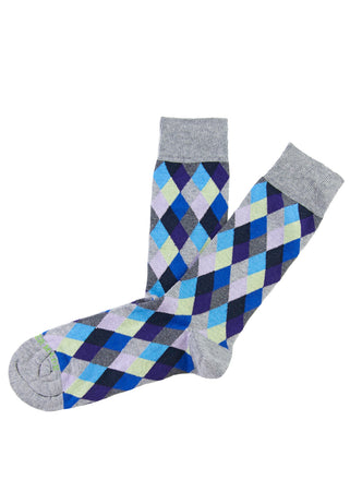 Blue mini argyle sock