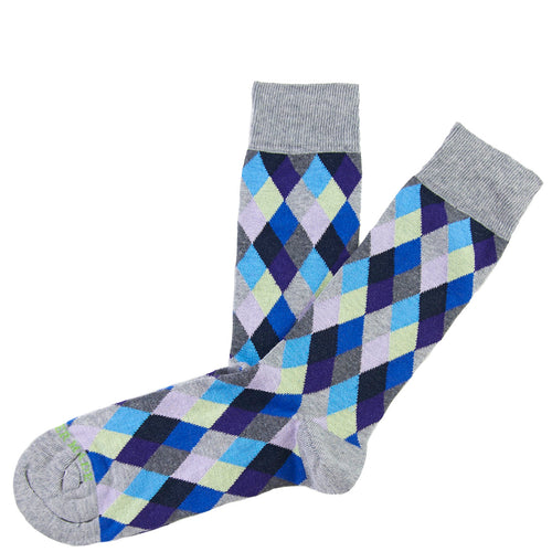 Blue mini argyle sock Swatch