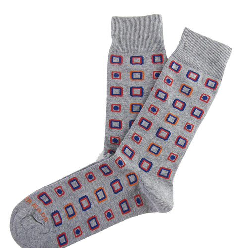 Grey multi square dot sock Swatch