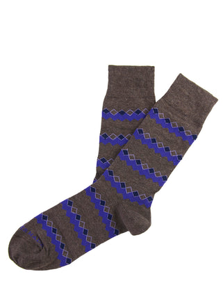 Brown/purple chevron diamond sock