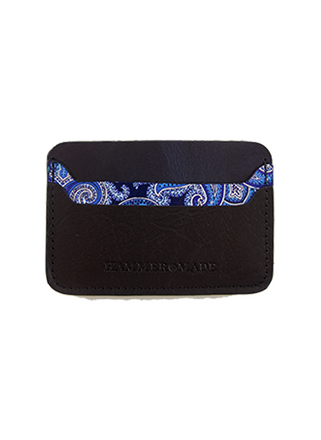 Blue/paisley wallet