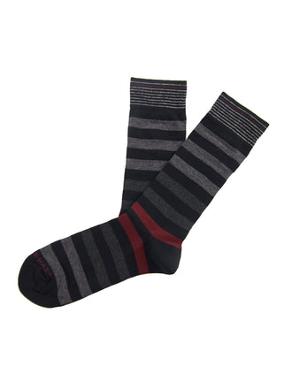 Black/grey colorblock stripe sock