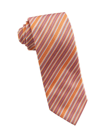 Orange stripe tie - 1190836